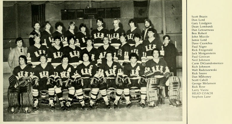 Dean Lombardi on the 1982 University of New Haven men's hockey
