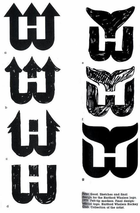Evolution of the Hartford Whalers logo by Peter Good